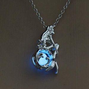 Jewelry - 🧜🏽♀️ Blue Glow in the Dark Mermaid Necklace